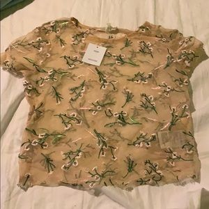 See through floral urban outfitters shirt size s